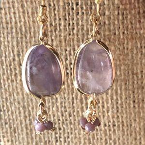Brand New Amethyst Dangle Earrings